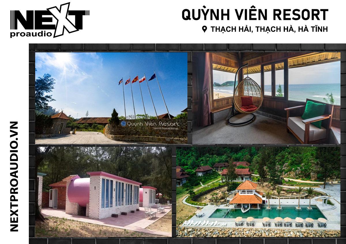 Dàn âm thanh sân khấu ngoài trời cho Quỳnh Viên Resort