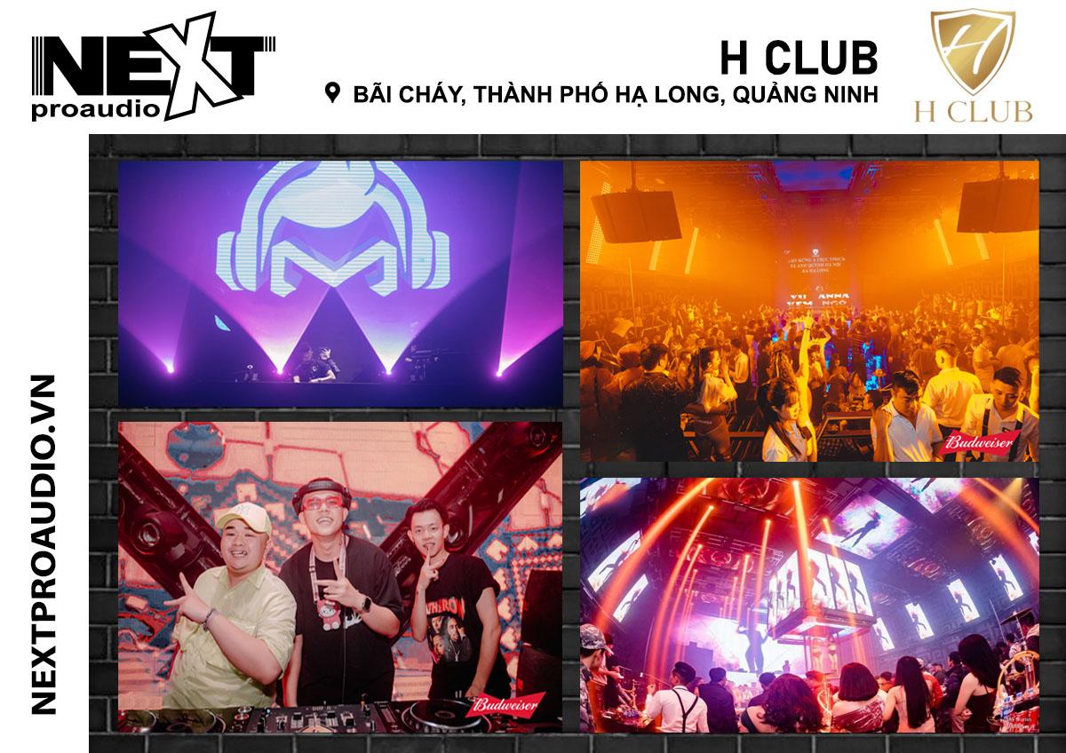 Hệ thống âm thanh Bar ở H Club - Quảng Ninh