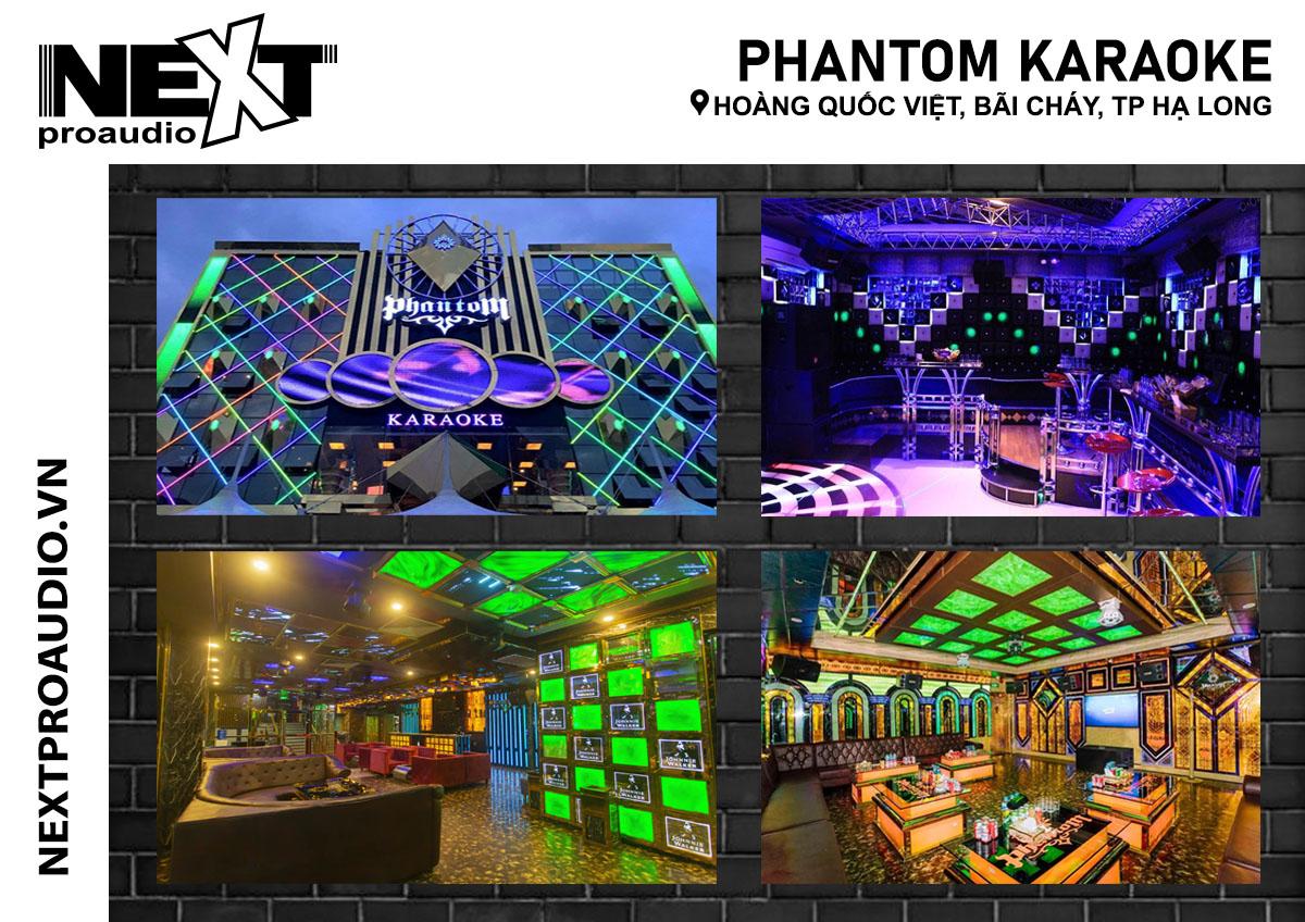 Bộ dàn âm thanh karaoke tại TP Hạ Long cho quán PHANTOM