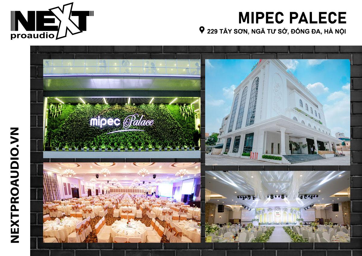 Dàn âm thanh sân khấu nhà hàng tiệc cưới Mipec palece
