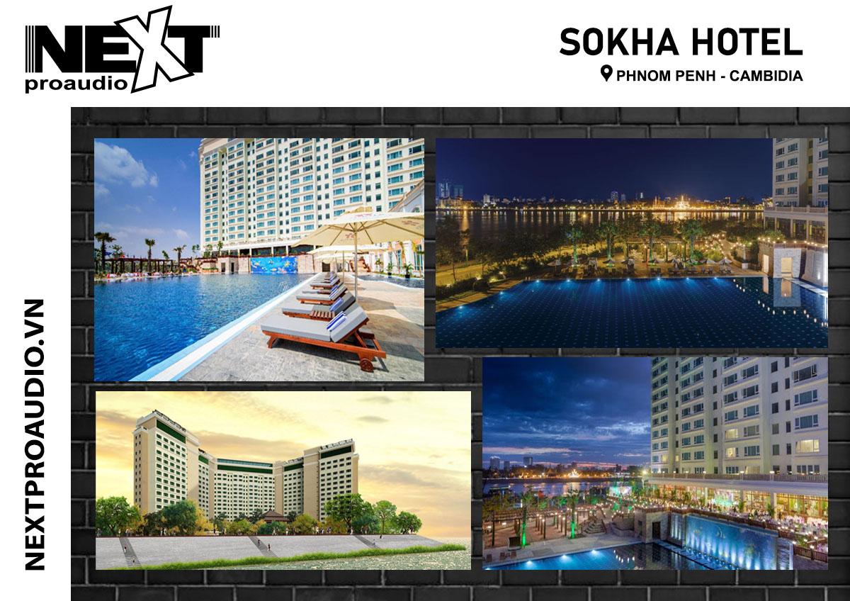 Lắp đặt dàn âm thanh ngoài trời cho Sokha hotel