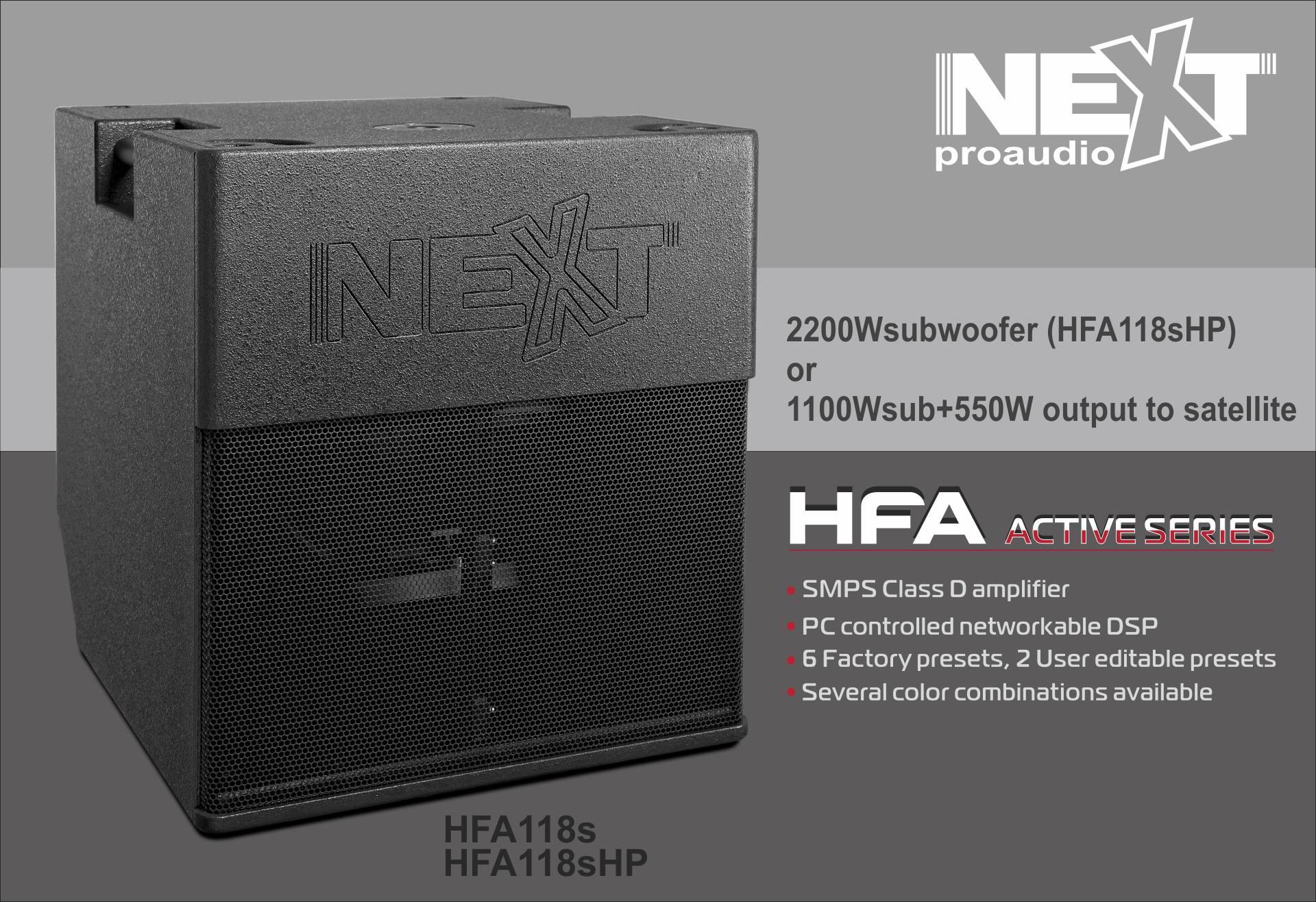 Loa sub điện Next HFA18sHP chất lượng châu Âu