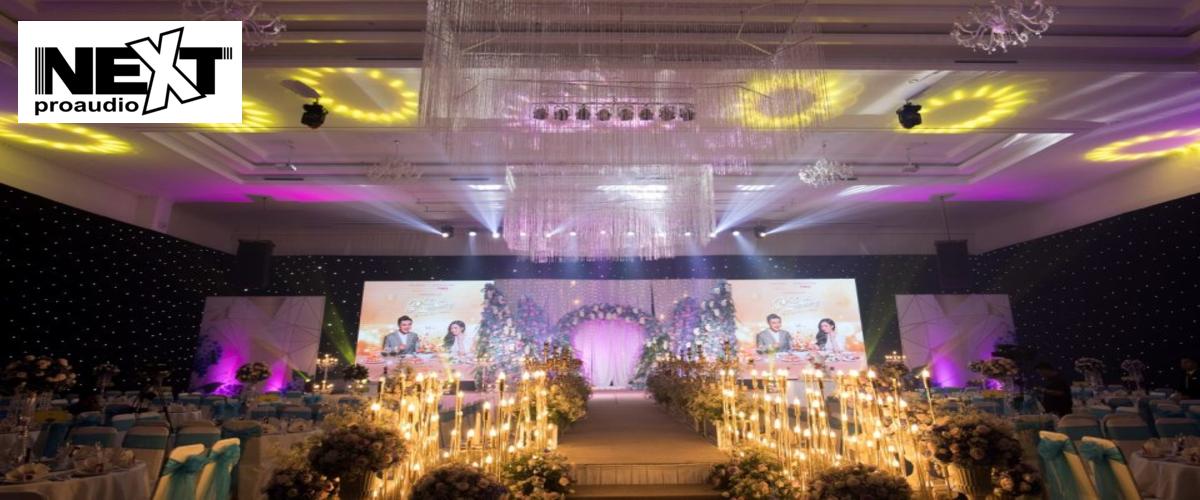 Dàn âm thanh cao cấp cho đám cưới