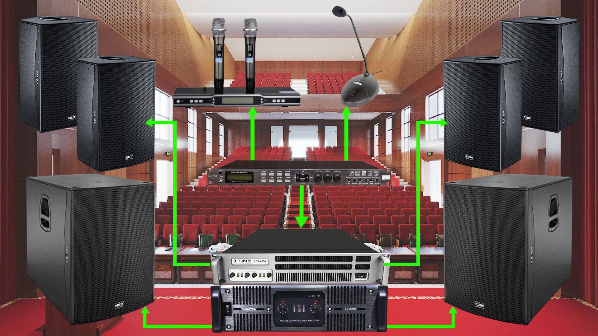 Các thiết bị hệ thống âm thanh hội trường cho UBND TP Vĩnh Long