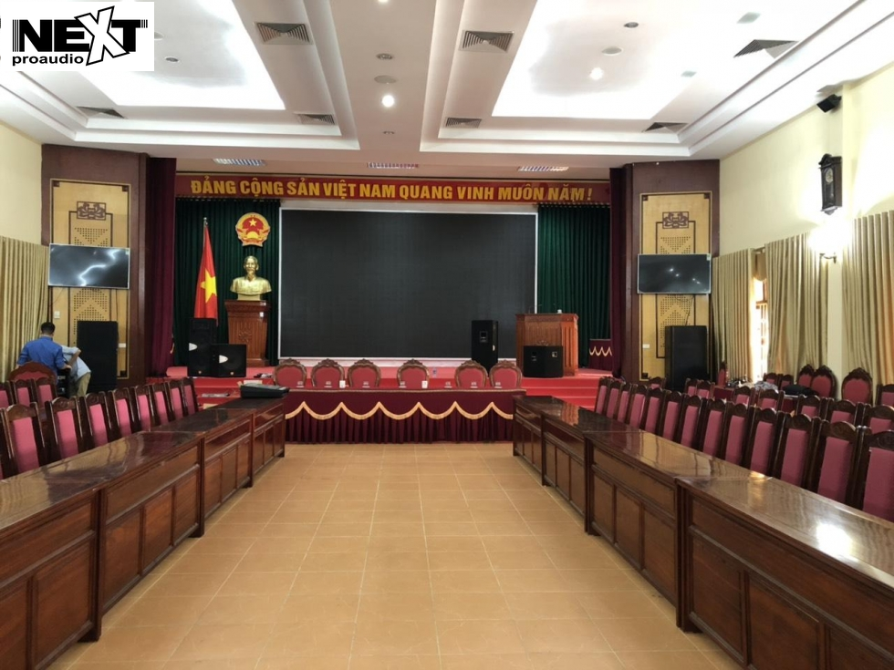Lắp đặt amply cho loa hội trường tại UBND Lào Cai