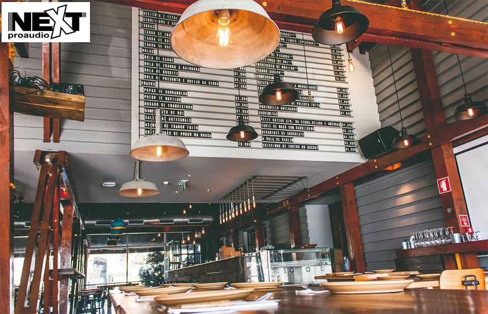 Nhà hàng phong cách châu âu được lắp đặt âm thanh cao cấp của Next