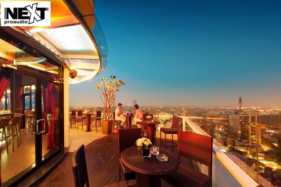 Dự án lắp đặt hệ thống âm thanh cho nhà hàng The Rooftop Bar