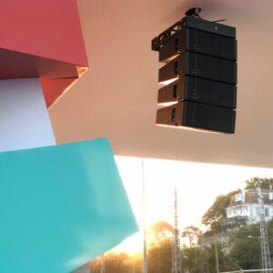 loa treo tường hội trường tại Next proaudio